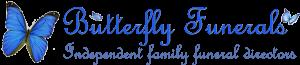 Butterfly Funerals logo.